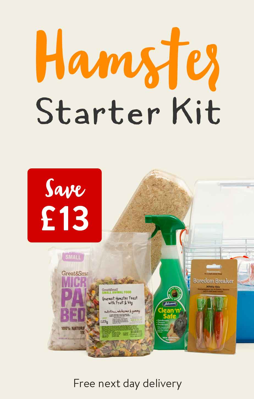 Hamster Starter Kit. Save £13